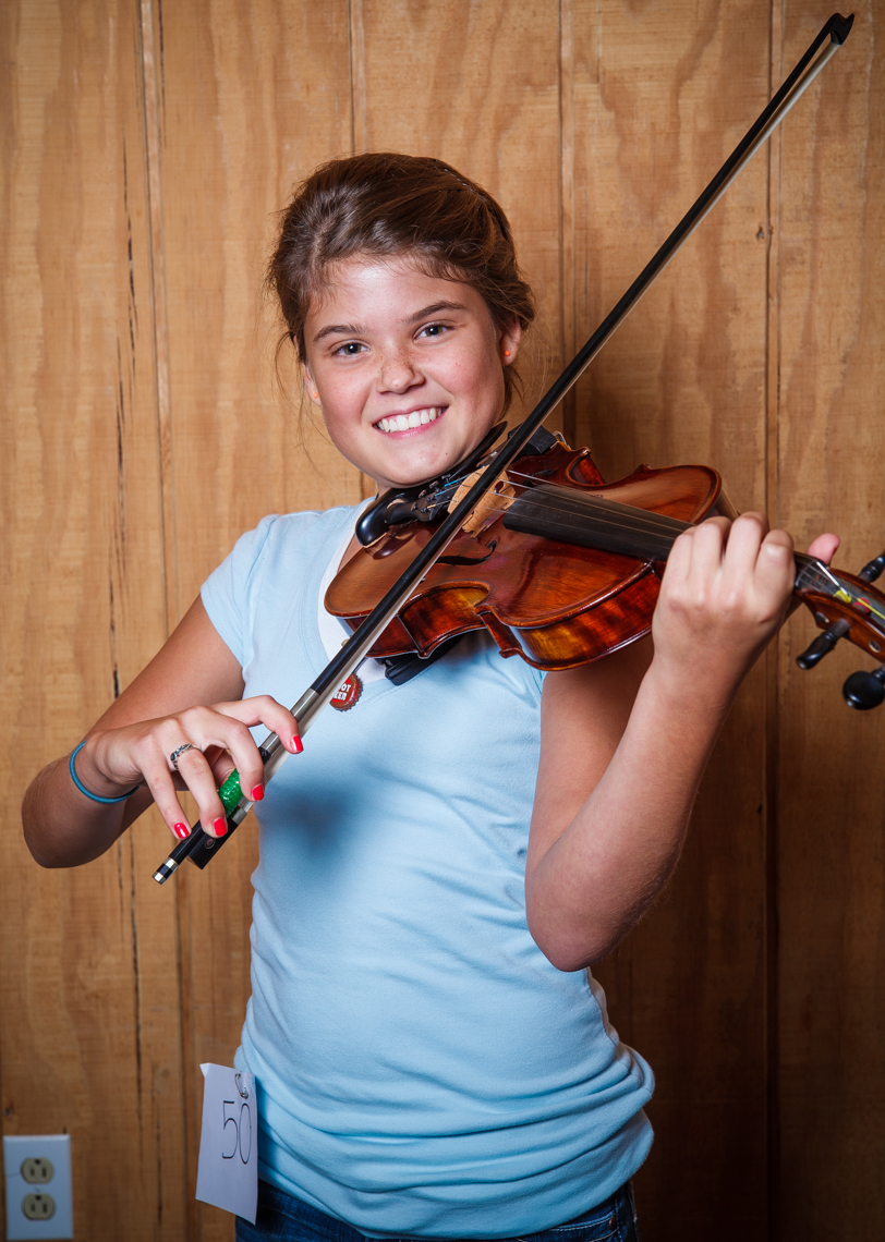 Talent show contestant, teen tween girl with fiddle, Wilson County Fair, Lebanon, Tennessee, carnival, amusement park, rural south
